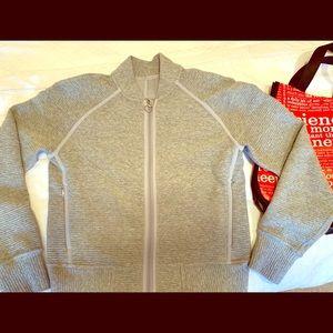 lululemon knit bomber jacket